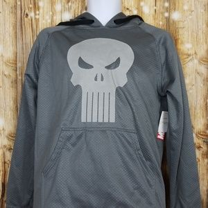 Marvel Punisher mens small charcoal hoodie